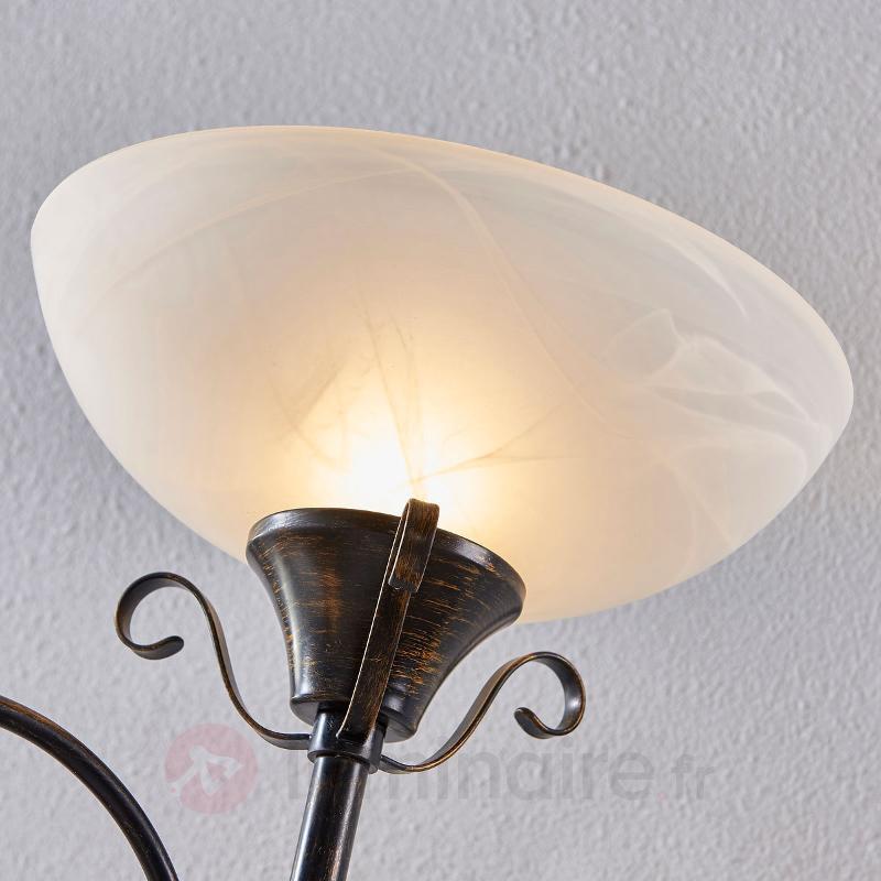 Lampadaire à éclairage indirect Hannes, liseuse - Lampadaires rustiques