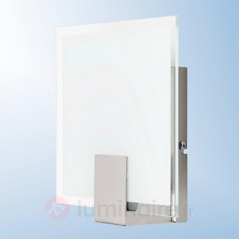 Applique moderne rectangulaire Sonian - Appliques chromées/nickel/inox