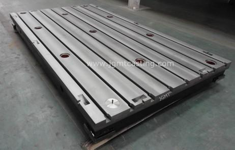 Cast Iron T-slot Plates - design according to DIN Standard, main material is gray cast iron GG25