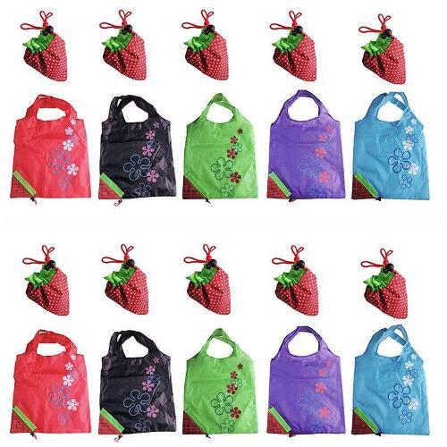 Клубничный складная сумка - моющиеся, Colorfast