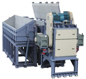 Shredder for pipes and profiles