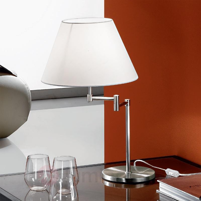 Lampe à poser RIA raffinée, nickel mat - Lampes à poser en tissu