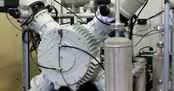 TIG oil-free and gas-tight compressor