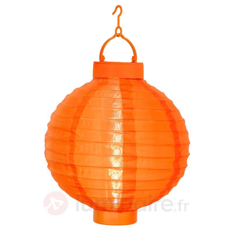 Lampion solaire orange Jerrit avec lumière LED