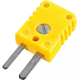 Miniature thermocouple connector type K, yellow - Thermocouple connectors