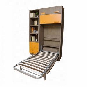 LIVE NOEL - Cama abatible vertical con mesa, cajones y librería.