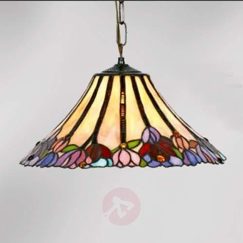 Beautiful Tiffany-style hanging light Tori, 1-bulb - Pendant Lighting