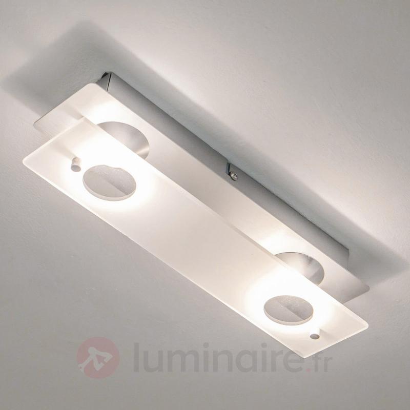 Plafonnier LED Filian à 2 lampes - Plafonniers LED