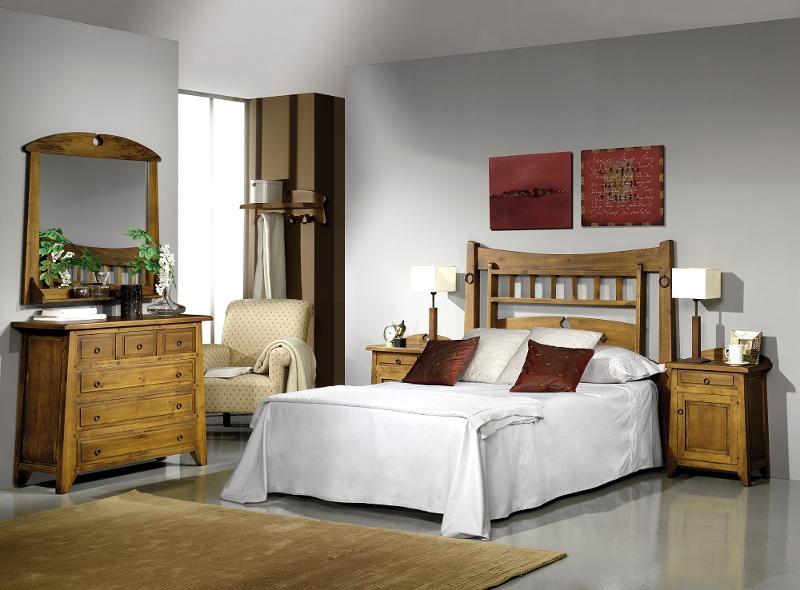 Dormitorio Rústico En Madera De Pino - null