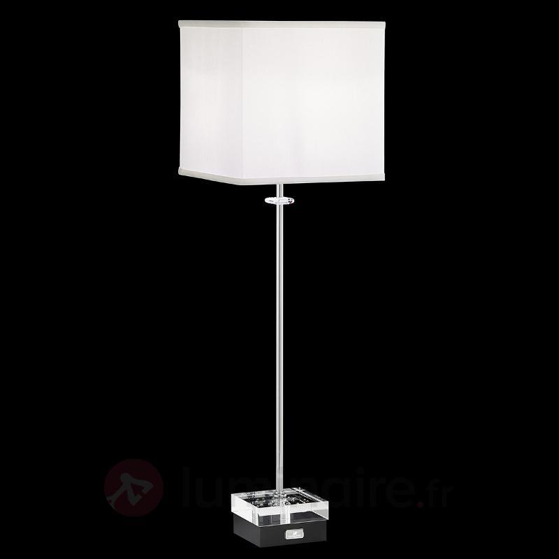 Lampe à poser Brillet avec cristaux, variable - Lampes à poser en tissu