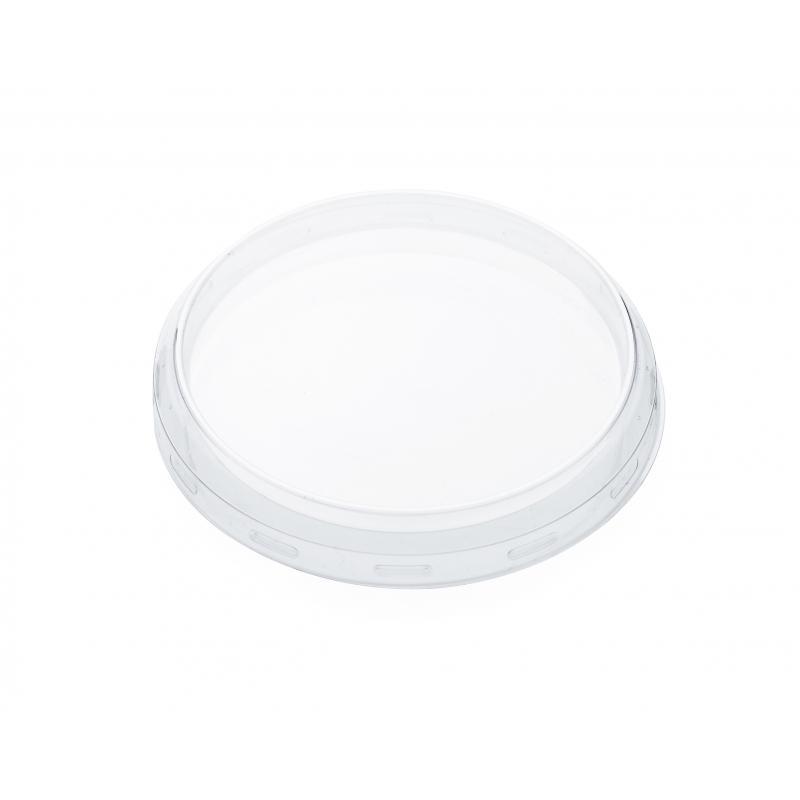 24 Coiffes diamètre 100 mm en plastique transparent PET  - pour bocal WECK
