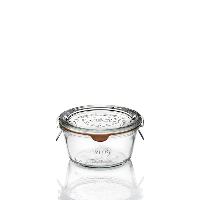 Vasi Weck® DROIT - 6 vasi in vetro WECK DROIT 290 ml piatti, diametro 100 mm
