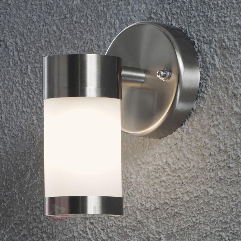 Applique d'extérieur sobre Modena à 1 lampe - Appliques d'extérieur inox