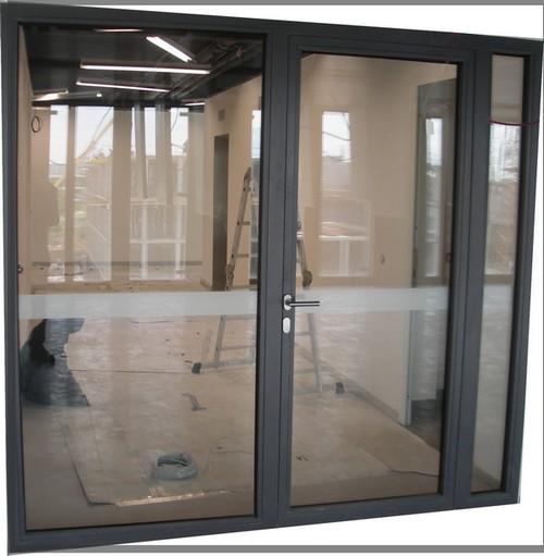 Portes métalliques coupe-feu vitrée double RF90'