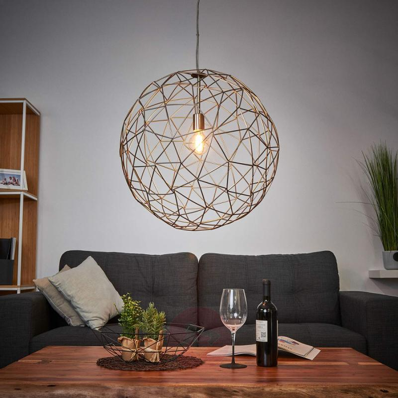 Large pendant lamp Cage made of metal - indoor-lighting