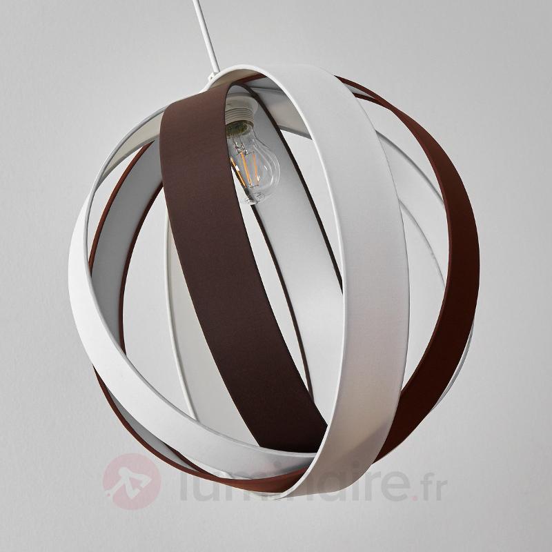 Suspension textile Valento en brun et blanc - Suspensions en tissu