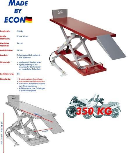 Motorradhebebühne ECON FH 350 Racing Rot für Zweiräder, Motorräder, Hydraulik - null