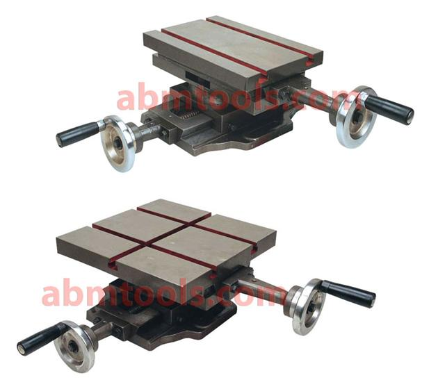 Compound Sliding Table - Heavy-duty compound slide table features  longitudinal and of transverse travel