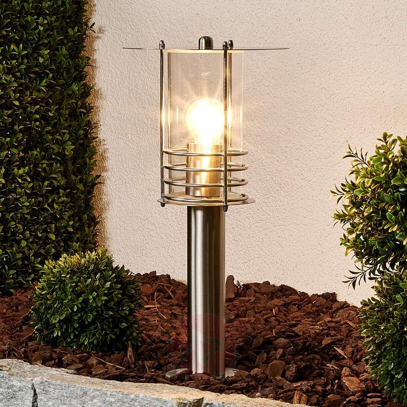 Elegant stainless steel pillar lamp Miko - Pillar Lights