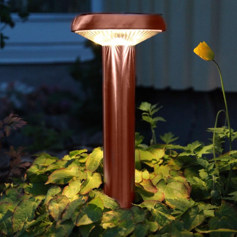 Lampe LED à piquet Isis couleur cuivre, solaire - Lampes solaires décoratives