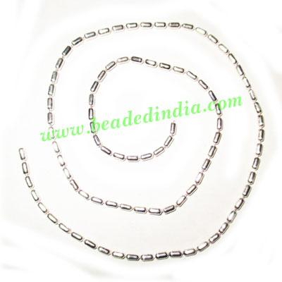 Silver Plated Metal Chain, size: 2mm, approx 75.5 meters in  - Silver Plated Metal Chain, size: 2mm, approx 75.5 meters in a Kg.