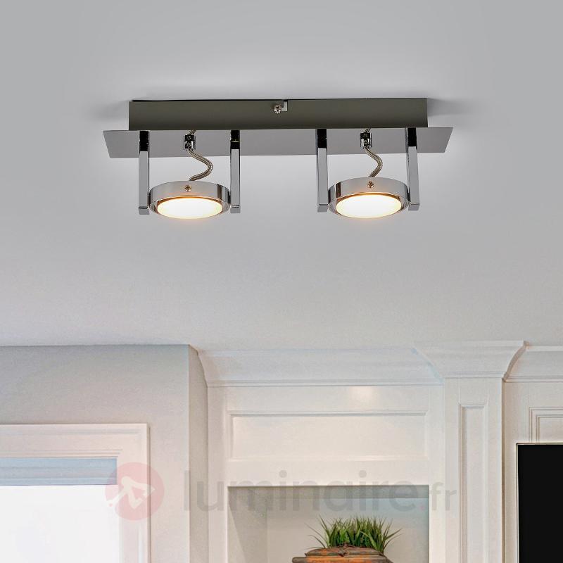 Plafonnier LED Joko à deux lampes - Plafonniers LED