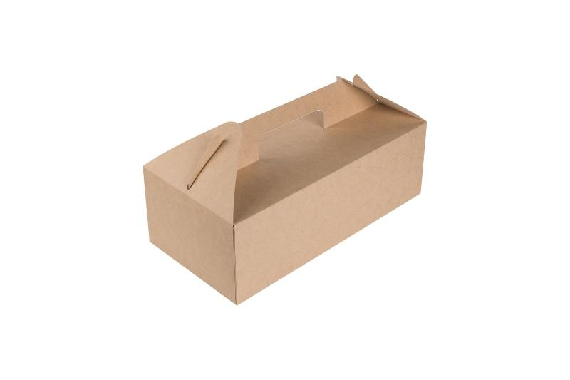 Carry Box with Handle - Kraft box for carrying food boxes