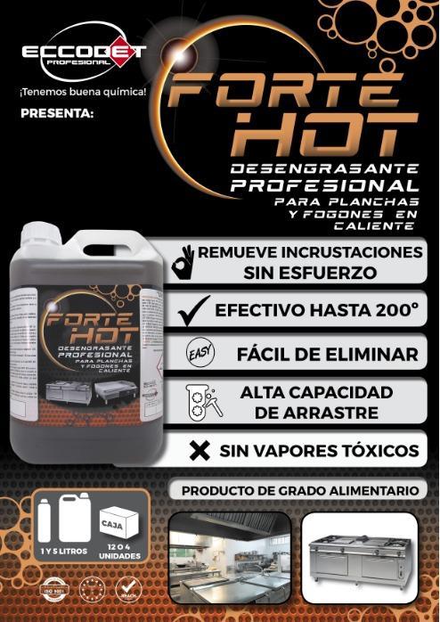 Forte Hot - Desengrasante profesional para planchas y fogones en caliente