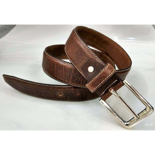 Leather grain belt  - Leather grain belt for men
