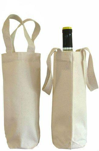 Single Bottle Canvas Wine Bag - Single Bottle Canvas Wine Bag, Canvas Bottle Bag, Cotton Wine Shopping Bags