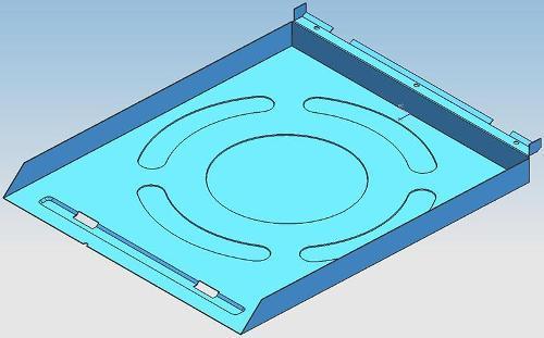 Kitchen ventilator rear plate progressive mold - Kitchen ventilator rear plate