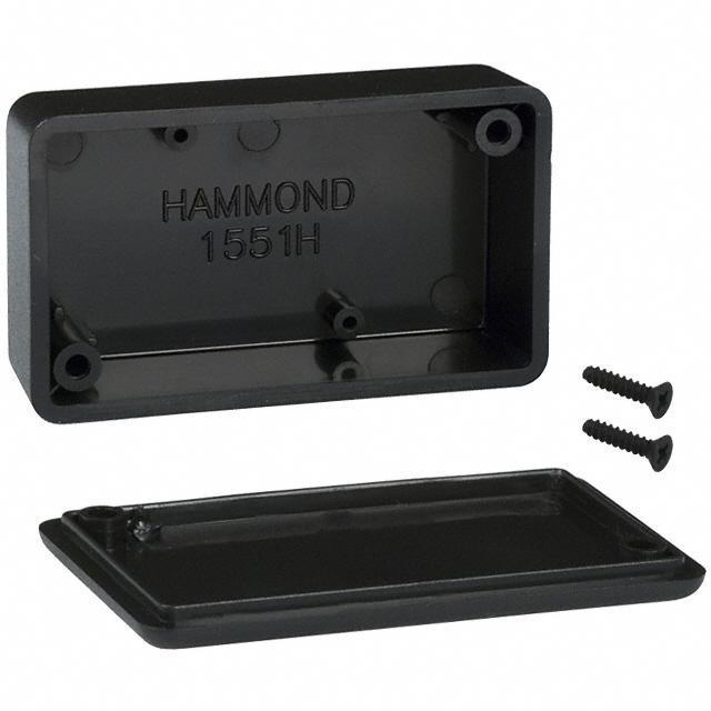 "BOX ABS BLACK 2.36""L X 1.38""W - Hammond Manufacturing 1551HBK"