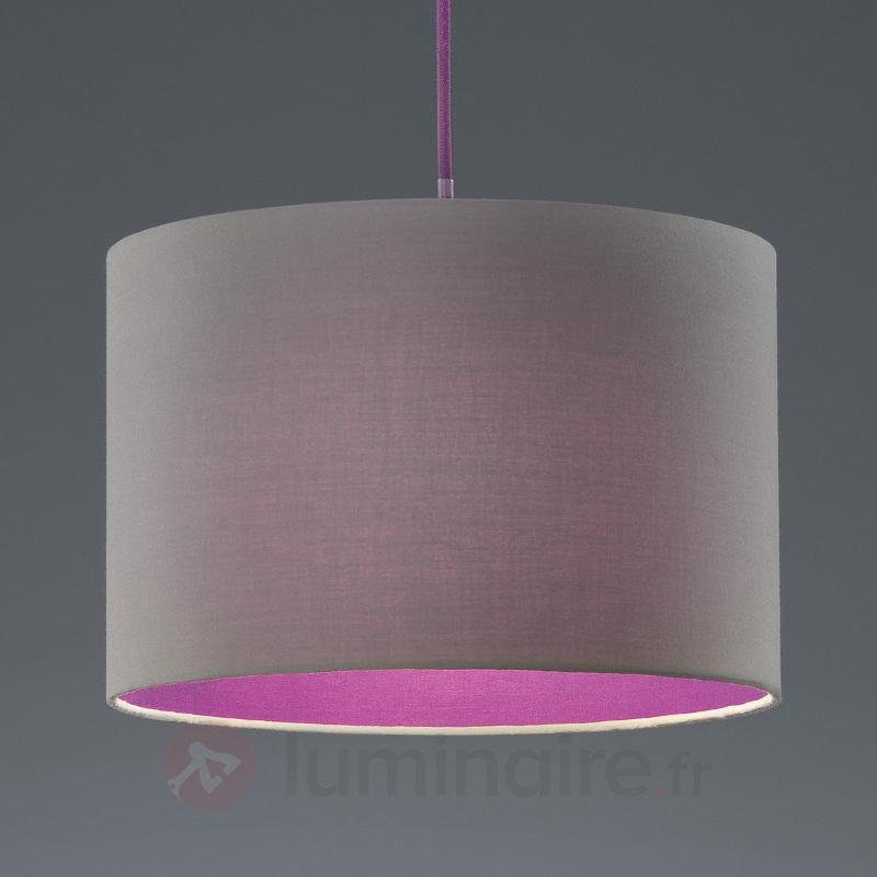 Suspension tendance Naila gris-violet - Suspensions en tissu