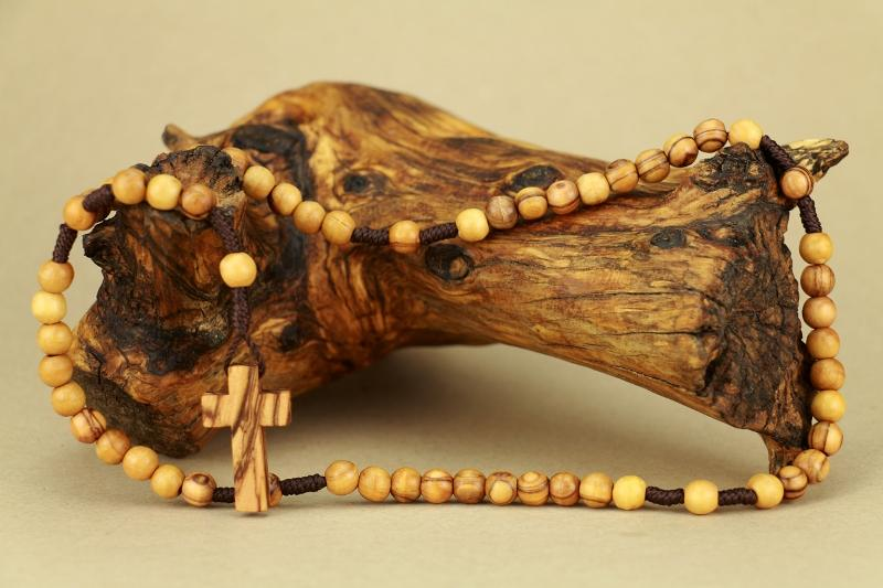 Olive Wood Rosary with Cross