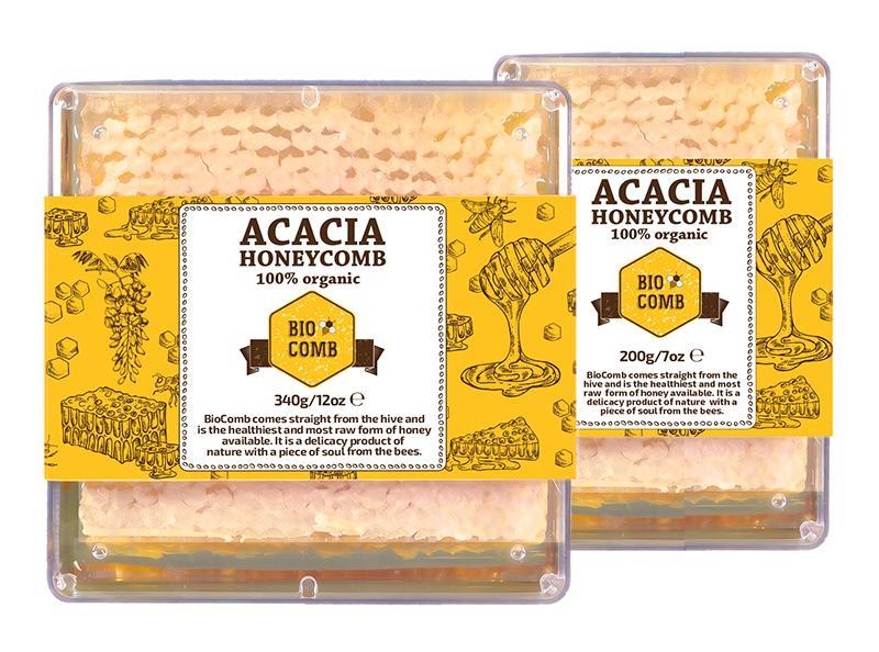 Organic Bulgarian Honeycomb - BioComb Acacia