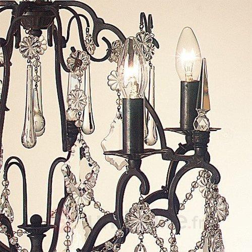 Lustre Symphonie brun antique - Lustres en cristal