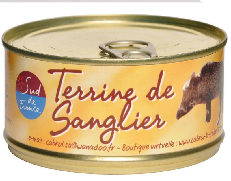 Terrine de Sanglier (conserve) - Epicerie salée