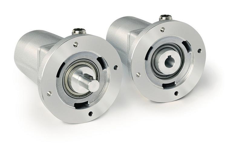 Potenciómetro de engranaje GP04/1 - Potenciómetro de engranaje GP04/1, con eje macizo o eje hueco de agujero ciego
