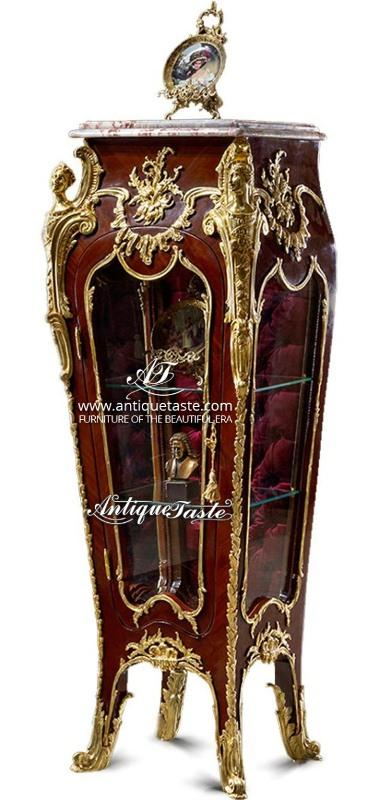 Luxurious Francois Linke and Louis xv style Vitrine Stand  - Gilt ormolu-mounts