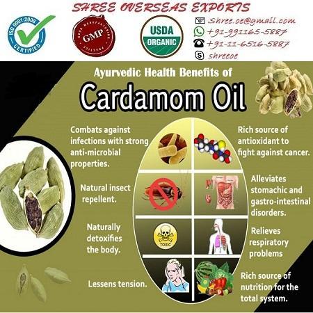 Organic Cardamom Oil - USDA Organic