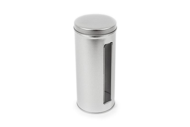 Coffee pad tin with window - null