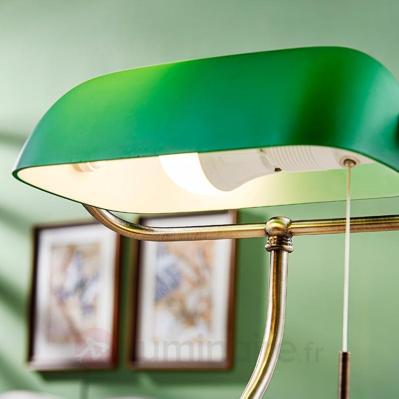 Milenka - lampe de bureau avec abat-jour vert - Lampes de bureau