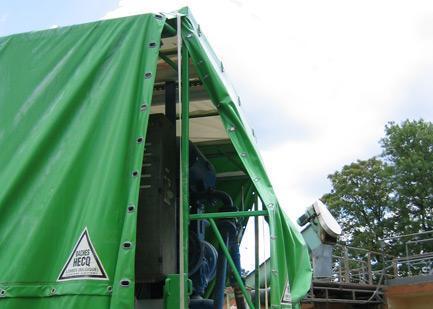 Transportation area - Automated tarpaulin systems