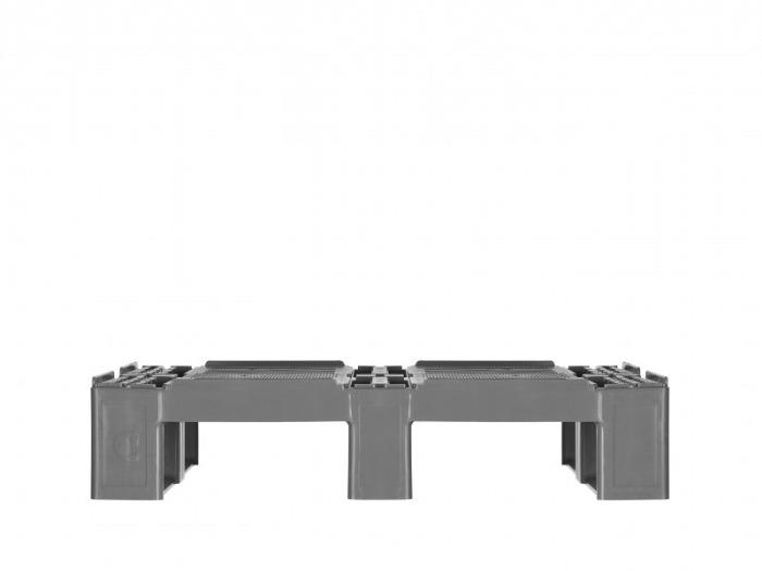 CR2 - Paleta de plástico, Semipalet,  Paleta de 4 vías