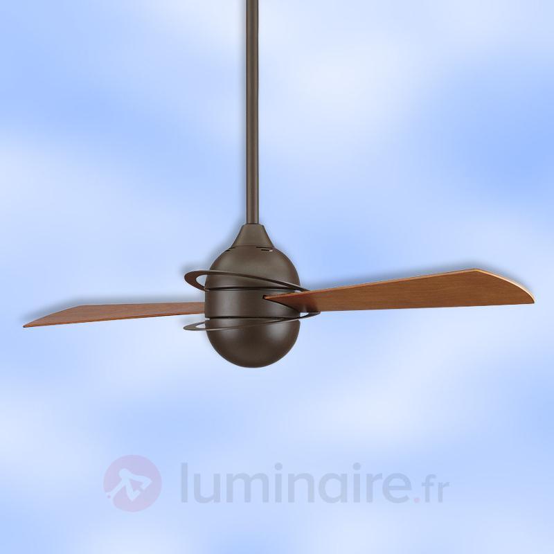 Ventil. de plafond The Involution, hélices hêtre - Ventilateurs de plafond modernes