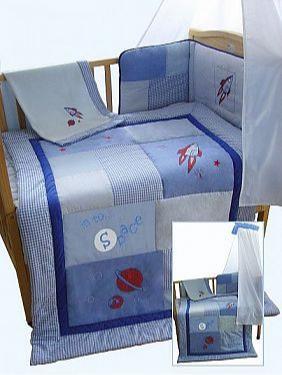 5 pcs Cot/ Cot-Bed Set - Space - Bedding Sets
