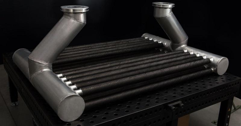 Aluminiowe wymienniki ciepła do wyłącznika generatorowego - spawanie konstrukcji