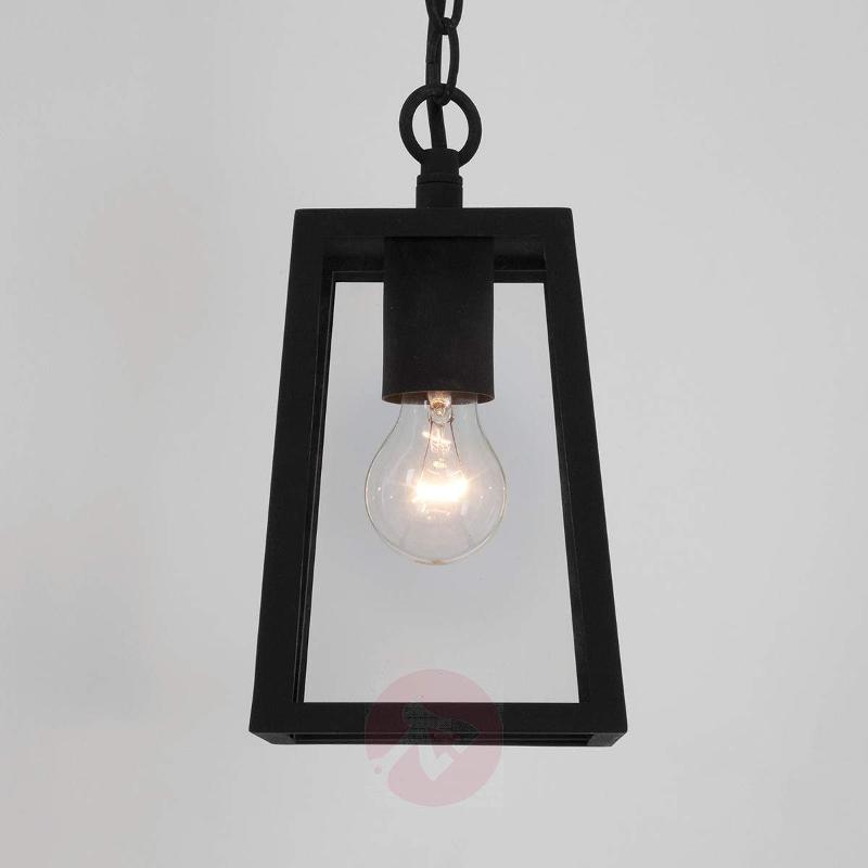 Calvi Hanging Light for Outside with Black Frame - Outdoor Pendant Lighting