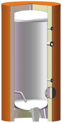 Réservoir tampon  - HELIO INOX - buse visite Ø 100
