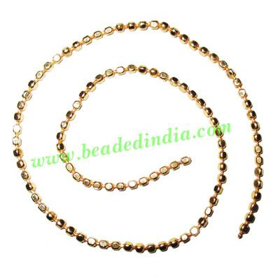 Gold Plated Metal Chain, size: 3mm, approx 39.1 meters in a  - Gold Plated Metal Chain, size: 3mm, approx 39.1 meters in a Kg.